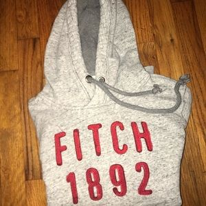 Abercrombie and Fitch light grey hoodie